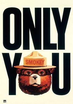 1954 U.S.State Forestry Dept SMOKEY BEAR bookmark CHOICE//QUANTITY
