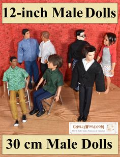 Diy Ken Doll Clothes, Sewing Barbie Clothes, Barbie Sewing Patterns, Doll Dress Patterns, Sewing Dolls, Clothing Patterns, Free Printable Sewing Patterns, Doll Patterns Free, Free Printables