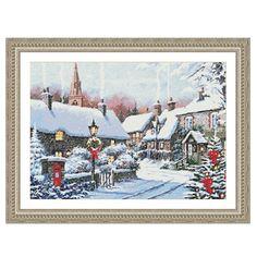 Winter Village Corner Counted Cross Stitch Kit - Cross Stitch, Needlepoint…