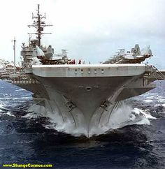 """USS CONSTELLATION (CV64) - AIRCRAFT CARRIER HEADS FOR GULF  The aircraft carrier Constellation with 72 warplanes aboard, headed to the Gulf on November 2, 2002, the latest piece in a quiet U.S. buildup off Iraq.  The """"Connie"""""""