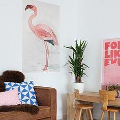 Combo Design is officieel dealer van IXXI ✓Greater Flamingo IXXI ✓ Verschillende varianten verkrijgbaar ✓ Gratis verzending (NL) Greater Flamingo, Pastel, Prints, Design, Home Decor, Cake, Decoration Home, Room Decor, Flamingo