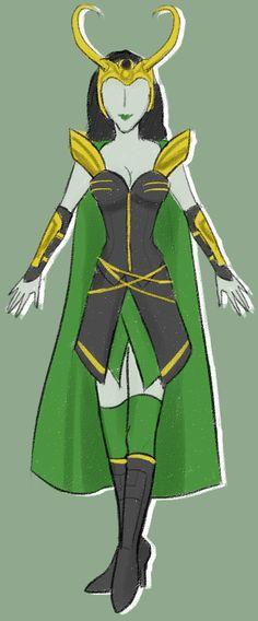 Female Loki Cosplay Design Draft by frowny-upside-downy