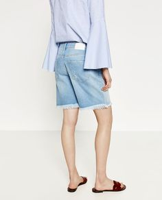 Image 5 of DENIM BERMUDA SHORTS from Zara