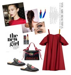 """""""Untitled #64"""" by fekikhdija ❤ liked on Polyvore featuring Gucci, Nach Bijoux and Anna October"""