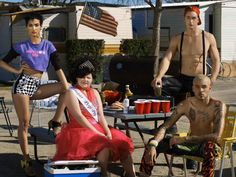 Kanani Andaluz, Jeremy Rohmer and Don Benjamin . America's Next Top Model, Cycle 20: Guys & Girls > Photoshoot 3: Trailer Park Chic with Sugar Pop Pop [FLIXEL - .gif]
