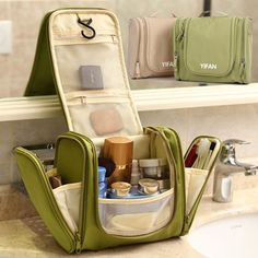 New Travel Toiletry Wash Cosmetic Bag Makeup Storage Case Hanging Grooming 097
