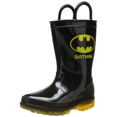 Batman Toddler Boys Lighted Rain Boots. Free shipping!