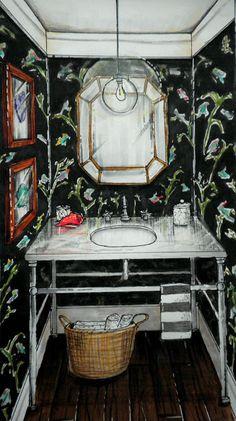 Tiffany Leigh Interior Design: Rendering Wednesdays - Powder Room