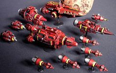 STAR CRASHERS- Spaceships and Terrain - really cool miniature space fleet!