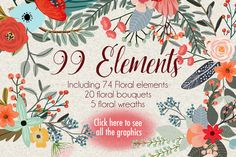 Country Flowers by Mia Charro on Creative Market