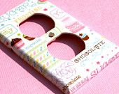 Cupcake Electrical Outlet Cover, Cupcake Kitchen Wall Decorations, Baking Cottage Chic Room Decor
