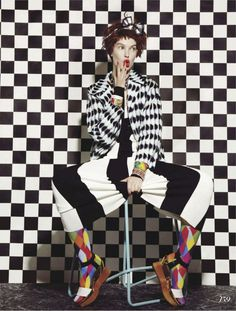 busy bodies: anastasija kondratjeva by jamie nelson for fashion canada march 2013 Jacket and shoes - Marni, dress Marc Jacobs