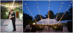 The garden courtyard with bistro lights at Willowdale Estate!  tags: summer wedding, sperry tent photo: dani fine photography venue: willowdaleestate.com