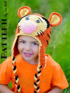 Safari Tiger Animal Hat PDF Crochet Pattern