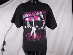 Garbage Rock Band T-Shirt Black Fabric Short Sleeve Shirt 2006 - http://raise.bid/store/clothing/garbage-fabric-sleeve/
