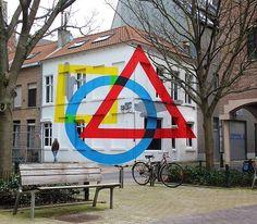 New anamorphic Street Art installation by Elian Chali Ostend Belgium  #art #graffiti #mural #streetart