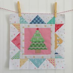 Bee In My Bonnet: Cozy Christmas Sew Along - Week Three - Block Three!! Christmas Blocks, Christmas Quilting, Cozy Christmas, Christmas Sewing, Christmas Crafts, Christmas Embroidery, Christmas Ideas, Quilting Board, Girls Quilts