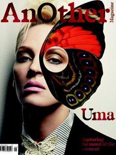 Uma Thurman    Imagery: One Eye symbolism, butterfly = mind control
