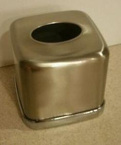 InterDesign Stainless Steel Tissue Box Holder Cover | eBay