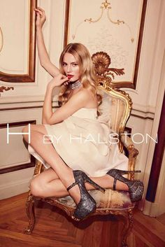 Mile-High Heel Campaigns - The H by Halston Holiday 2011 Ads are Dressed to Kill (GALLERY)