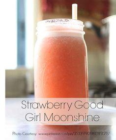strawberry good girl moonshine. Frozen strawberries, ginger, water, and apple cider vinegar.