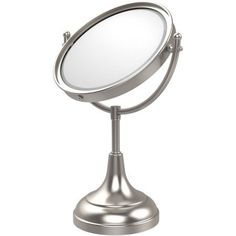 8 inch Vanity Top Make-Up Mirror, 4x Magnification (Build to Order), Silver