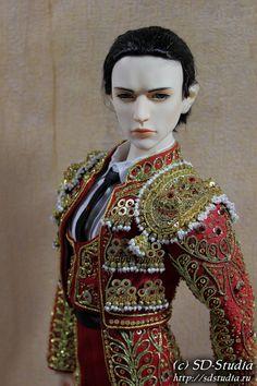Matador (torero) bjd doll Парадный костюм матадора Traje de Luces для куклы бжд BJD