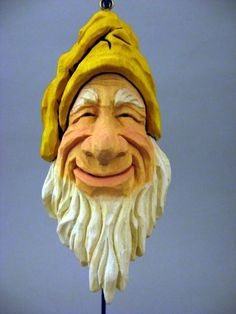 Hand Carved Christmas Ornaments | Hand Carved Elf Christmas ornament Don't ask me why...I love this guy!