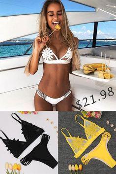 d4790543f9 Lace Thong Bikini Set Women Swimsuit Multi Rope Bathing Suit S-XL White Low  Waist Swimwear Girl Brazilian Tankini