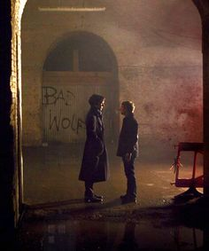 """Sherlock, what are we doing down here? We have a case to solve."" my first thought was why is bad wolf written behind sherlock and john? <--- Rose left herself a note to find the doctor! Fandoms Unite, Sherlock Holmes, Sherlock John, Moriarty, Tardis, Detective, Supernatural, Saga, Mrs Hudson"