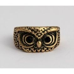 Antique Style Owl Ring