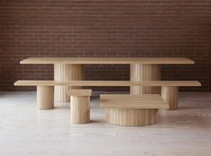 Barrel is a minimal furniture collection created by London-based designer Philippe Malouin Furniture Decor, Furniture Design, Outdoor Furniture, Minimalist Furniture, Wood Planks, Furniture Collection, Contemporary Furniture, A Table, Dining Tables