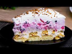 NAGYON GYORS, gyümölcsös torta csupán 15 perc alatt| Ízletes TV - YouTube Bolo Cake, Mini Tortillas, Plasma, No Bake Pies, What To Cook, Flan, Food Design, Gelato, Sour Cream