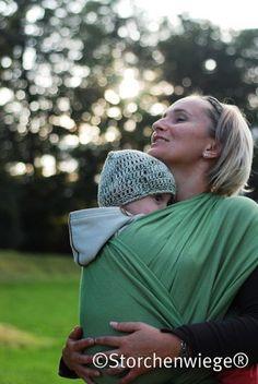 Leo Grun Storchenwiege Wraparound Baby Carrier