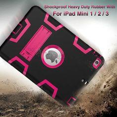 Pour iPad Mini 2/iPad Mini 3 Cas EVA Lourd Duty Antichoc Hybride Robuste En Caoutchouc Dur Impact De Protection de La Peau Shell Cas