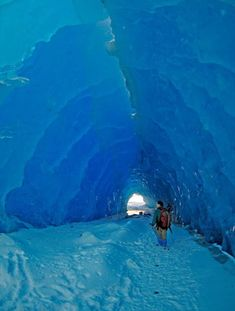 Large ice tunnel