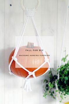 Fall For DIY Hanging Macrame Pumpkins