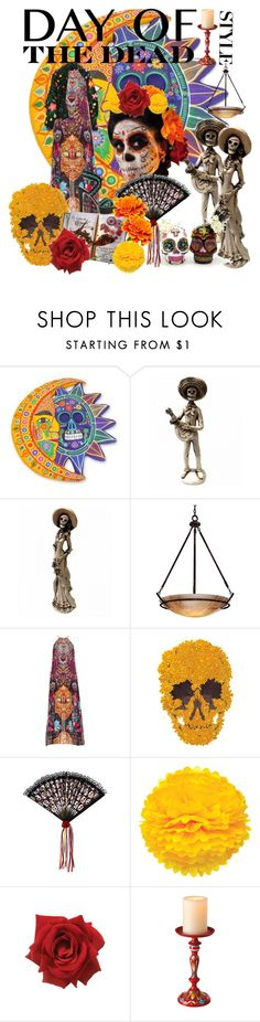 """Día de Muertos"" by cicin-dela-e ❤ liked on Polyvore featuring interior, interiors, interior design, home, home decor, interior decorating, NOVICA, Minka-Lavery, Camilla and Cultural Intrigue"
