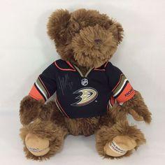 Hockey Anaheim Ducks CHOCO Night 2010 LE Teddy Bear NHL Player Autograph Jersey  #HerringtonTeddyBear