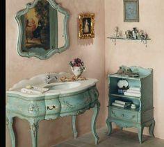 meubles pour la salle de bain vintage
