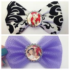 Punk rock/ hipster little mermaid inspired Disney bound bow on Etsy, $5.50