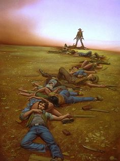 The Dark Tower - The Gunslinger - Micheal Whelan Art - The Battle at Tull