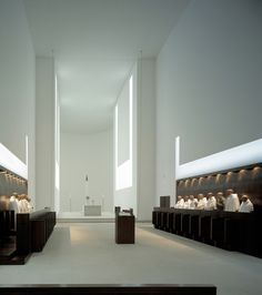 minimalist interior by JOHN PAWSON architects, Monastery of Our Lady of Nový… Detail Architecture, Sacred Architecture, Religious Architecture, Church Architecture, Minimalist Architecture, Chinese Architecture, Classical Architecture, Minimalist Interior, Contemporary Architecture