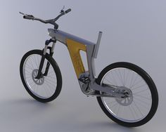 Conceptual electric bike with bottom bracket drive - design by Ercsényi Miklós More designs from the same author: www.ardeola.hu