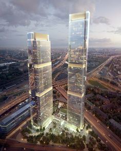 "Designed by HOK, FXFOWLE, SPEECH. Visualizations of the last full-scale skyscrapers in Moscow's new International Business Center (""Moscow City"") have been revealed. Designed by an..."