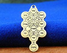 Mystical Figure of Solomon Tree of Life Ten Sephiroth seal   Etsy