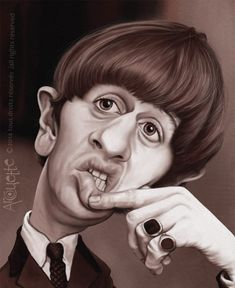 (BEATLES) Ringo Starr (Caricature) by Evelyne Arcouette - http://dunway.us                                                                                                                                                      More