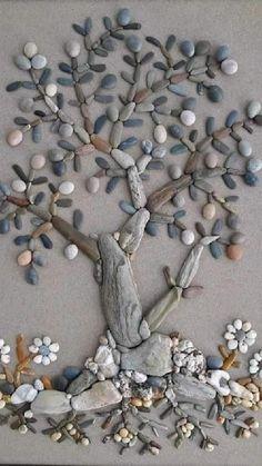 Diy Crafts For Home Decor, Beach Crafts, Stone Crafts, Rock Crafts, Garden Crafts, Garden Art, Diy Wall Art, Diy Art, Rock Painting Patterns