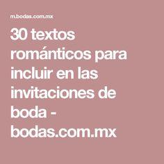30 textos románticos para incluir en las invitaciones de boda - bodas.com.mx