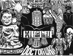 Doctor Who, in doodle format.